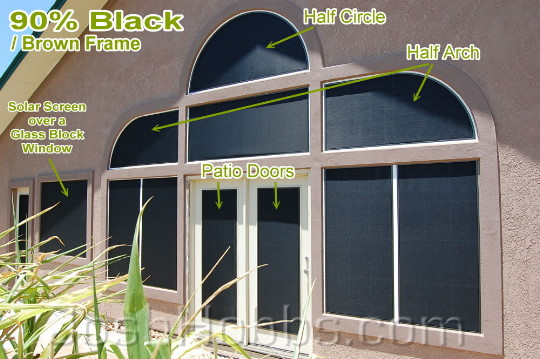 Manor TX Sun Control Shades aka Solar Window Screens